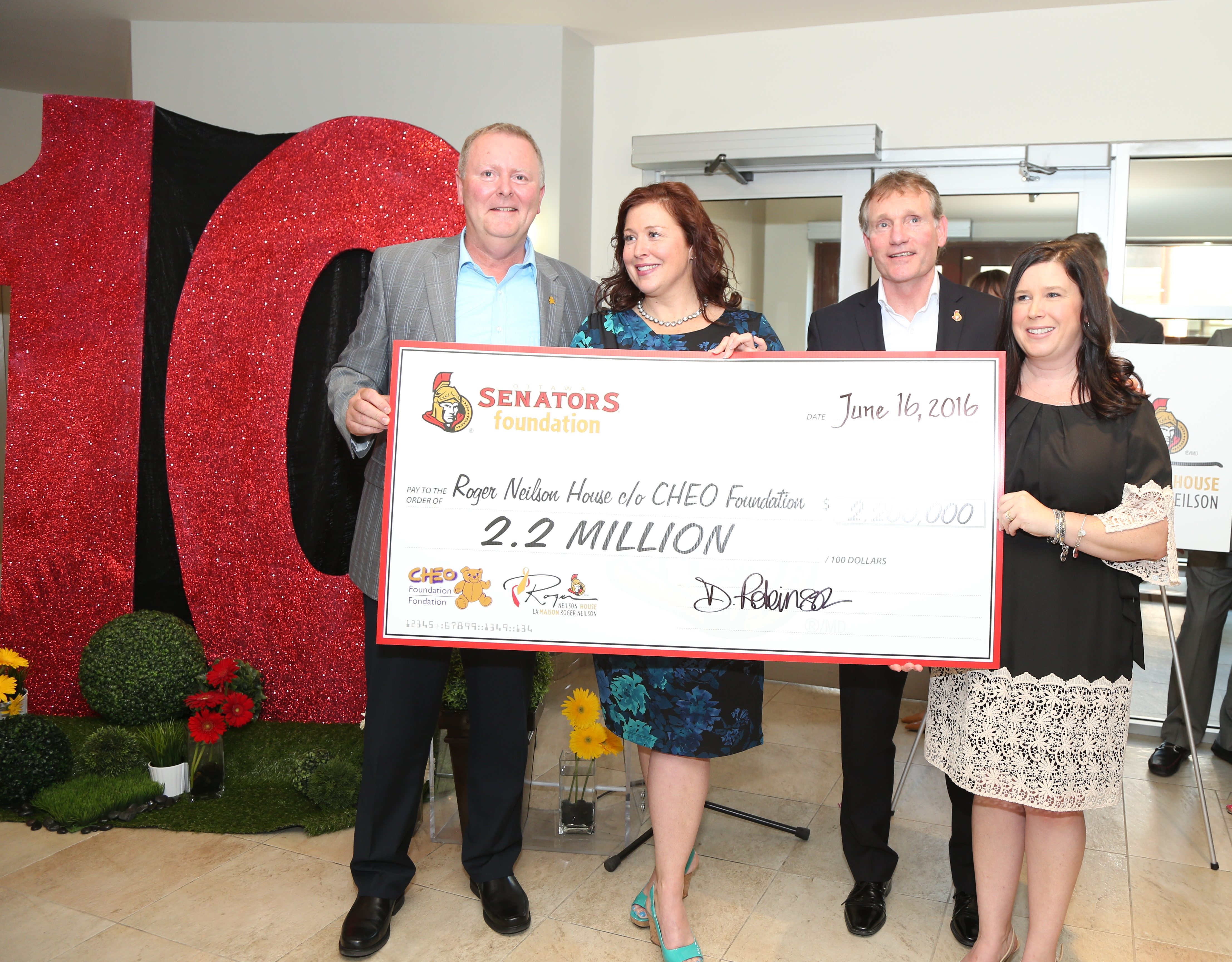Kevin Keohane - President and CEO of CHEO Foundation, Danielle Robinson - President and CEO, Ottawa Senators Foundation, Cyril Leeder - President Ottawa Senators & Megan Wright - Executive Director, Roger Neilson House and Director, Palliative Care, CHEO