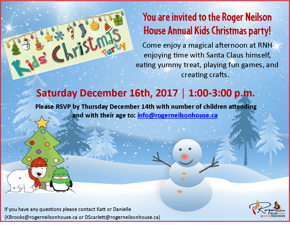 children s christmas party by invitation only roger neilson house